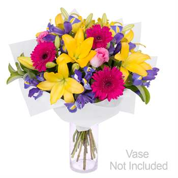 Hot, striking and vibrant bouquet of flowers Flowers