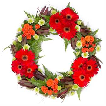 Wreath: Autumn-Winter Flowers