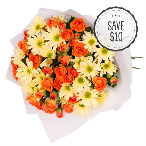 Bright Orange Yellow Bouquet Special Flowers