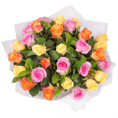 Rose Bouquet of 30 Multi Colour Roses