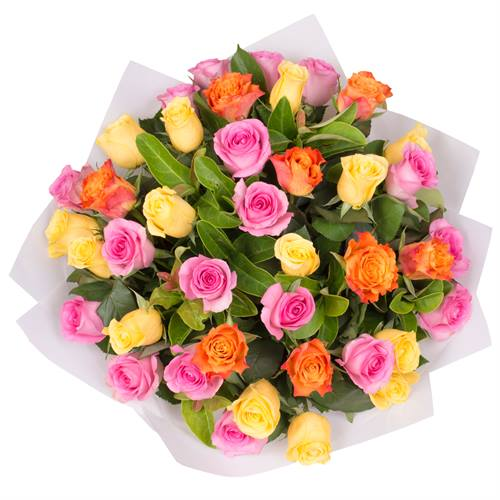 Rose Bouquet of 40 Multi Colour Roses