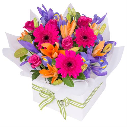 Vivid Box of Flowers